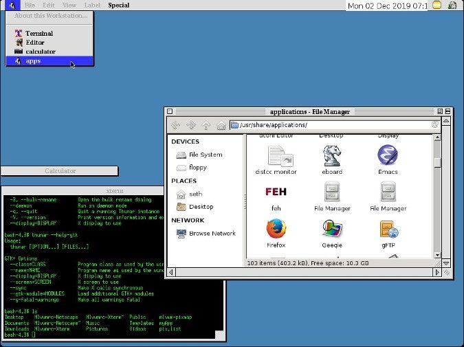 MLVWM running on Slackware 14.2