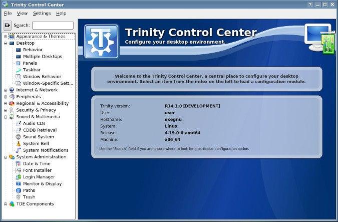 Trinity Control Center
