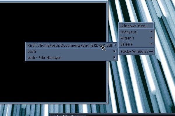 UDE middle-click menu