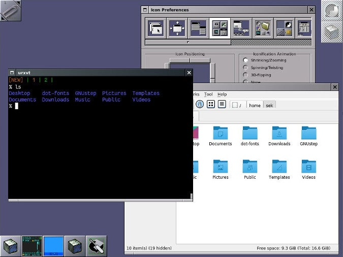 Window Maker running on Fedora