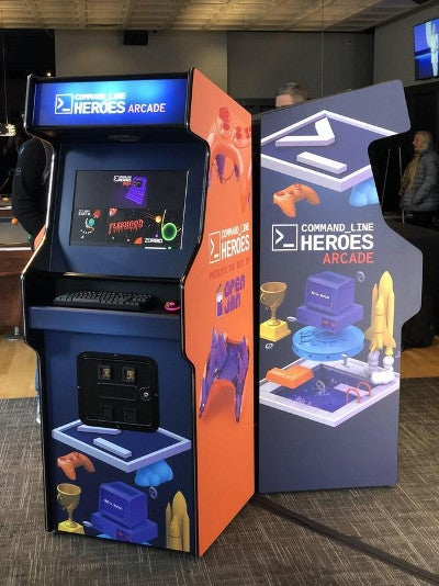 Command Line Heroes arcade consoles