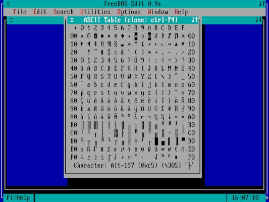 ASCII 0xc5