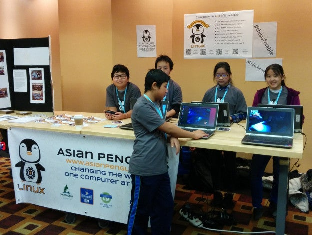 Asian Penguins members at an event