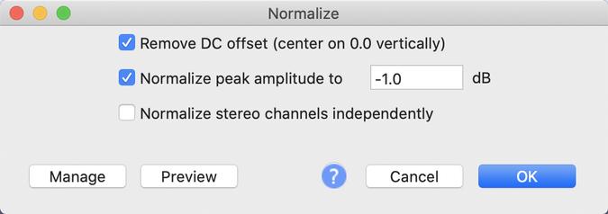 Normalize defaults
