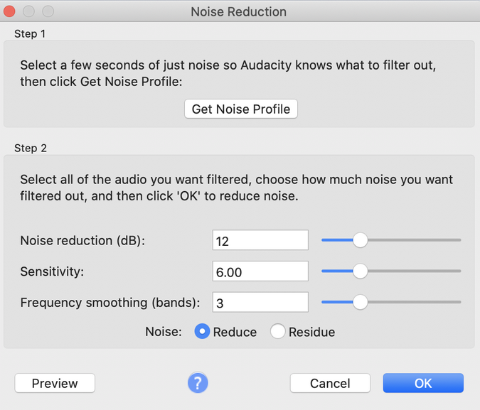 Noise Reduction effect step 2