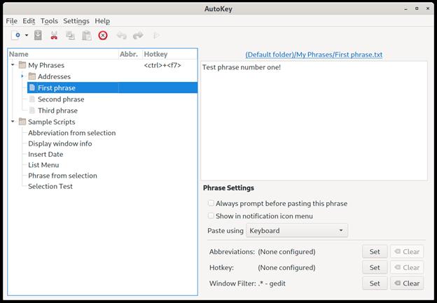 AutoKey UI
