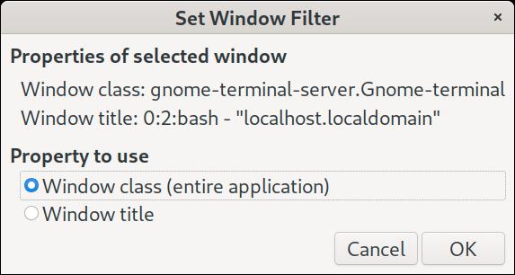 AutoKey Window Filter