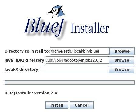 BlueJ installer