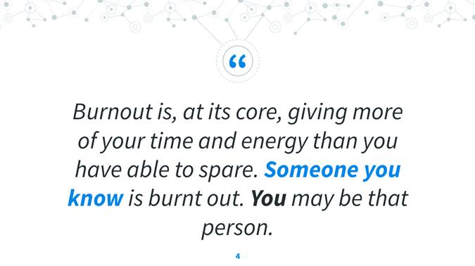 Definition of burnout