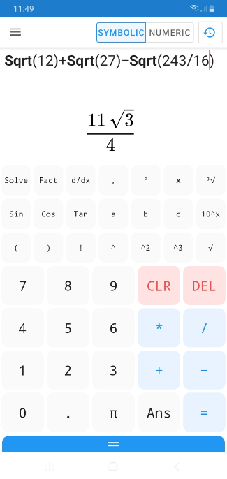Calculator N+ graphical interface