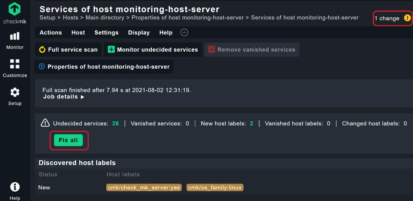 Host monitoring fix all