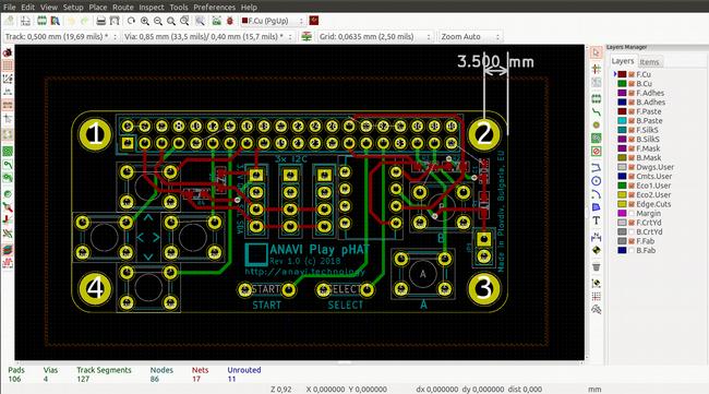 Printable circuit board design
