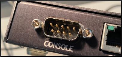 DB-9 Console port
