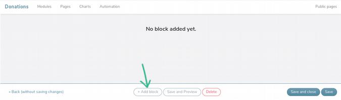 Add block button