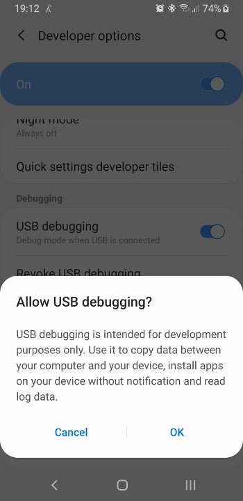 Enabling Developer Mode