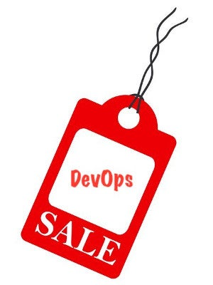 DevOps price tag graphic