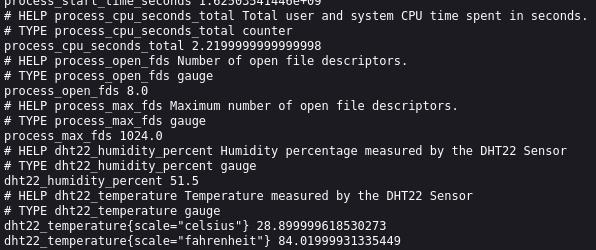 Prometheus metric data