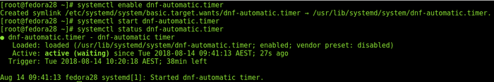 Result of # systemctl enable dnf-automatic.timer