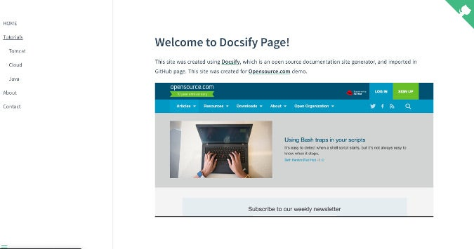 Example Docsify site on GitHub Pages
