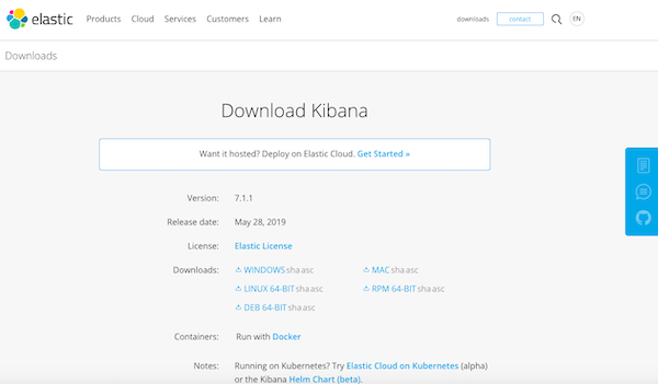 Download Kibana here.