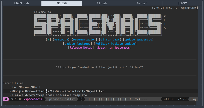 Running Spacemacs in eDEX-UI