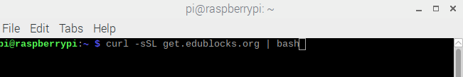 Installing EduBlocks through the command line