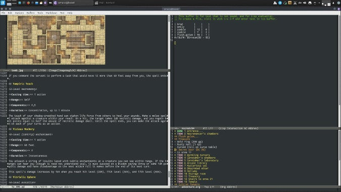 Emacs for RPG