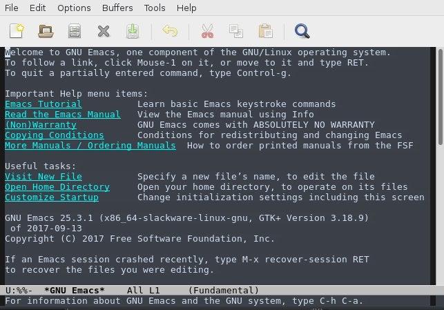 Emacs slackware