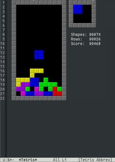 Emacs tetris