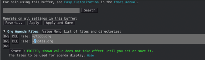 Emacs Customize tool in Spacemacs
