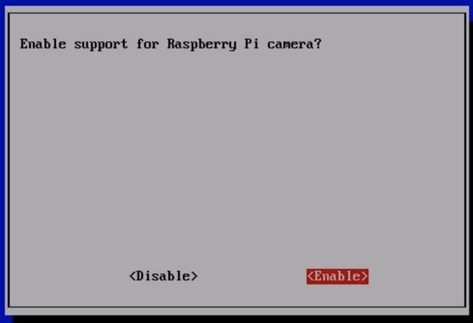 Enable Raspberry Pi Camera