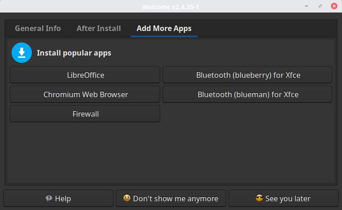 EndeavourOS install apps