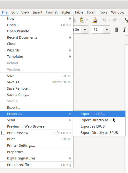 Export as PDF