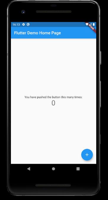 Flutter demo on mobile device