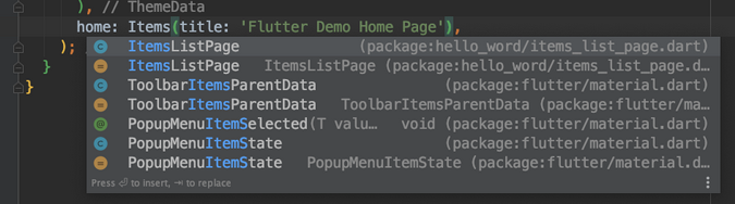 IDE suggests autocompleting code