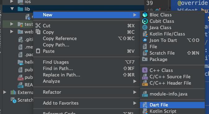 Create a new Dart file
