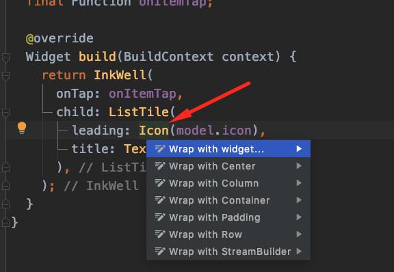 Wrap with widget option