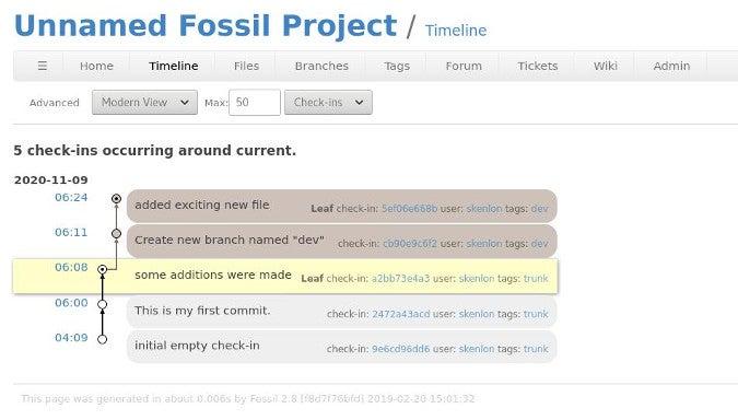 Fossil UI