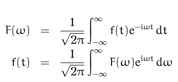 Fourier transform equations