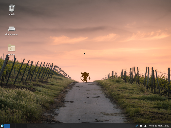 FuryBSD Post-Install XFCE Desktop