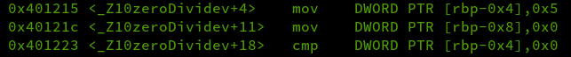 stack division output