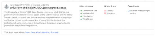 The University of Illinois/NCSA open source license.