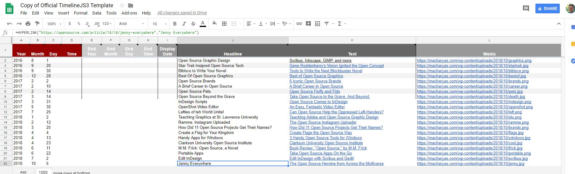 timelinejs an interactive javascript timeline building tool