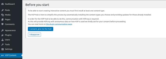 H5P consent option