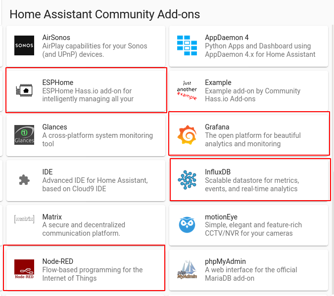 Home Assistant community add-ons