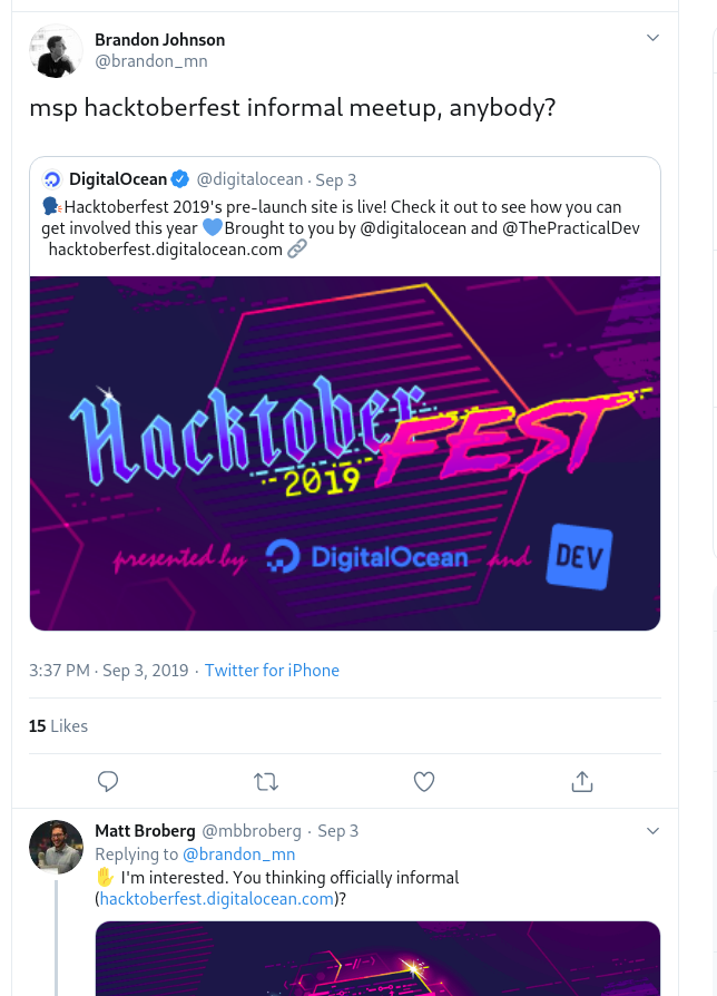 Hacktoberfest event