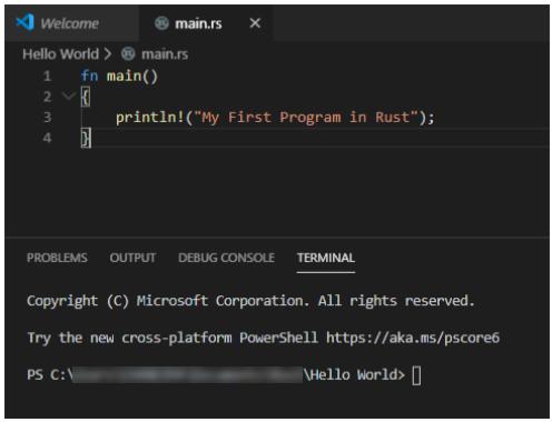 Rust terminal screenshot