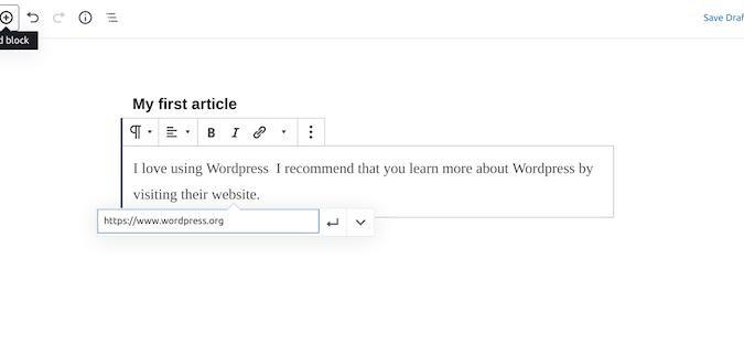Wordpress classroom blog