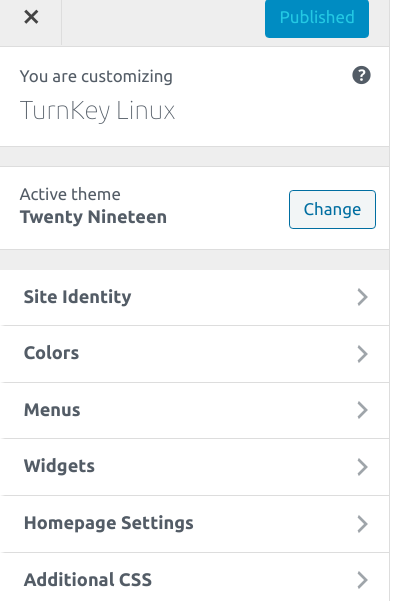 Turnkey theme