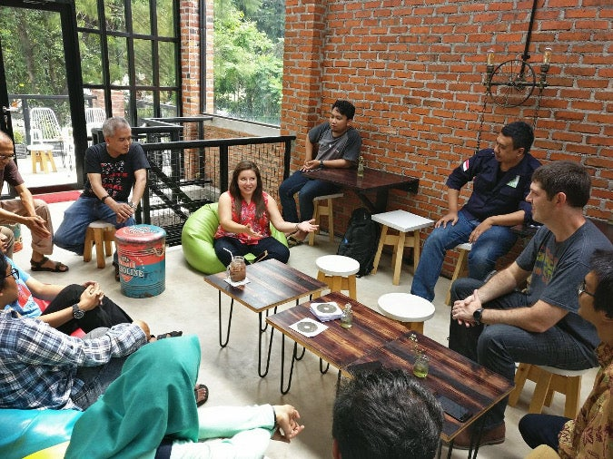 Meeting with open source community members in Indonesia